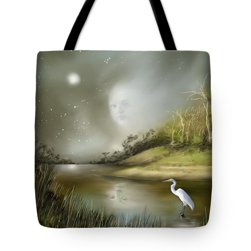 Mistress Tote Bag featuring the painting Mistress Of The Glade by - Artificium -