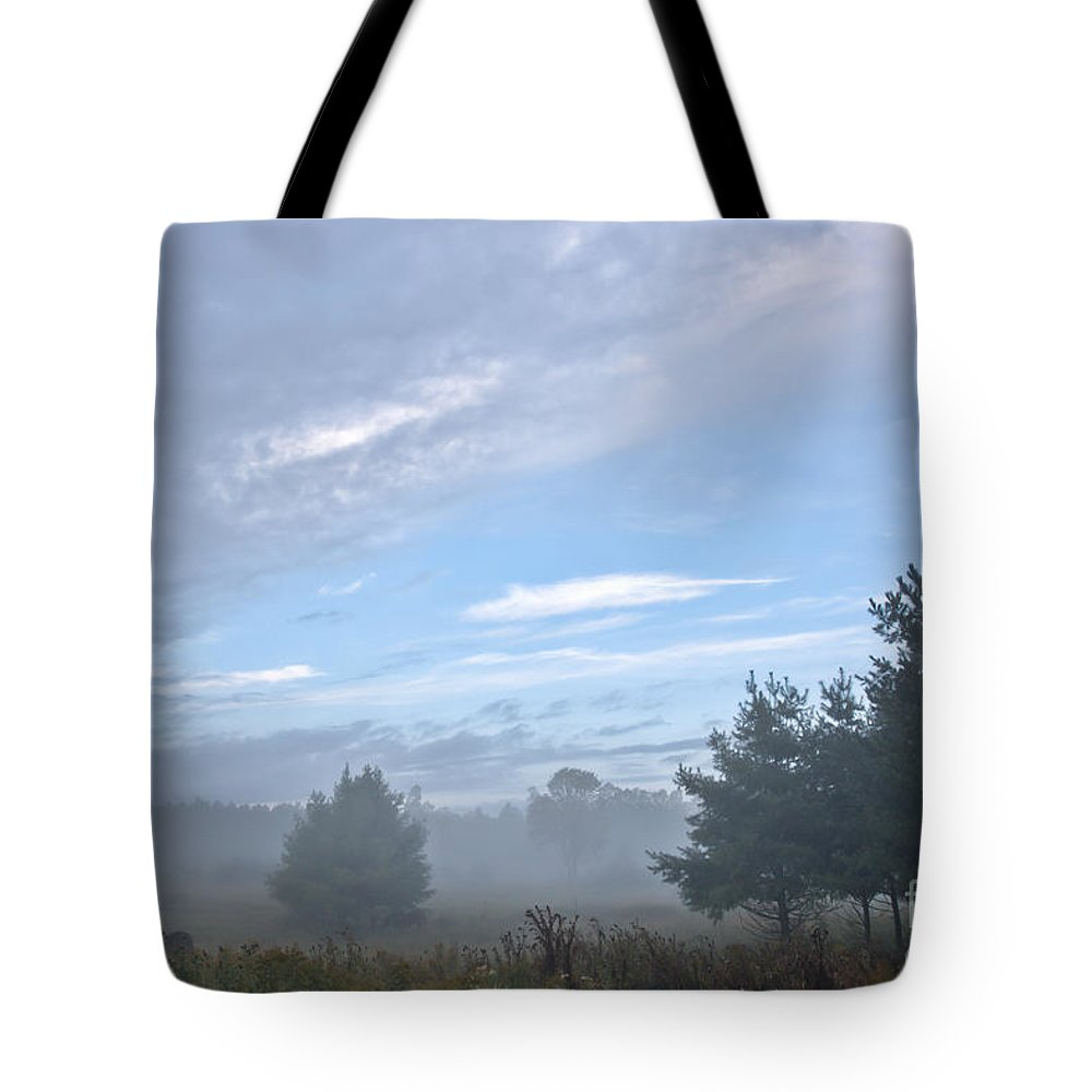 Tote Bag featuring the photograph Misty Monday by Cheryl Baxter