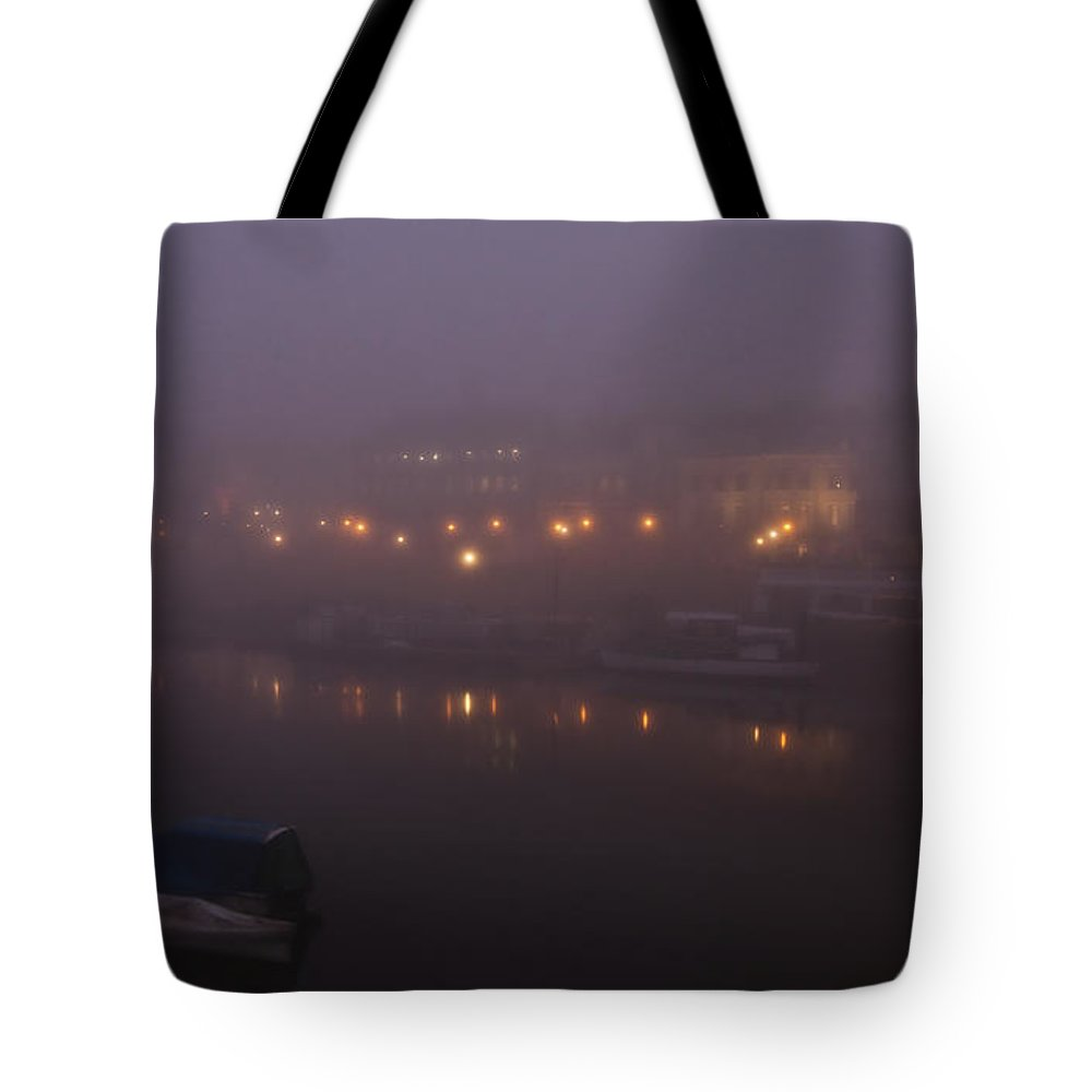 Richmond Tote Bag featuring the photograph Misty Richmond Upon Thames by Maj Seda