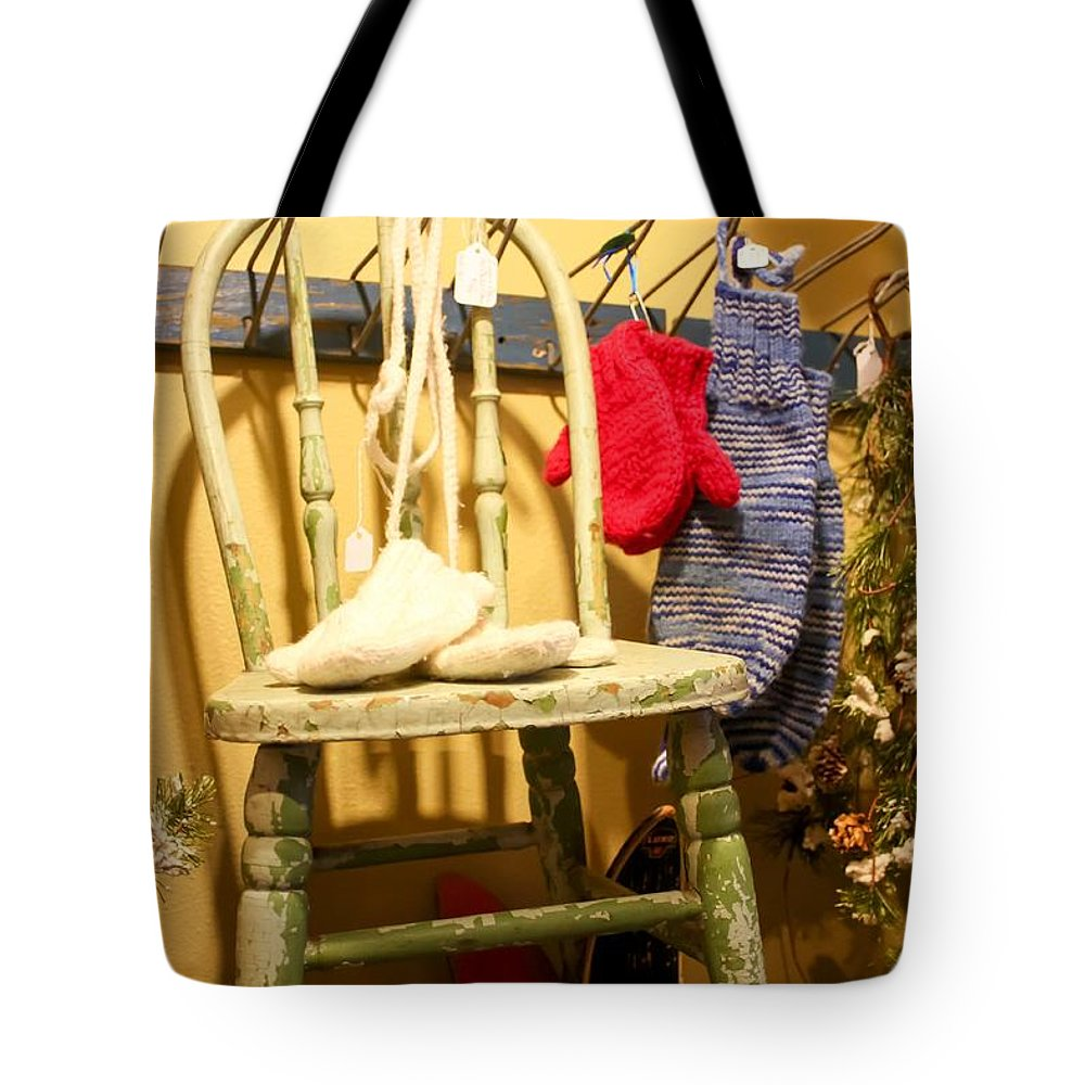 Mittens Tote Bag featuring the photograph Mittens by Cynthia Woods