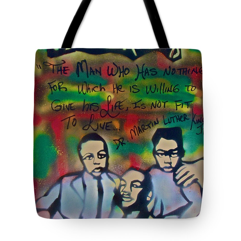 Occupy Tote Bag featuring the painting Mlk Fatherhood 1 by Tony B Conscious