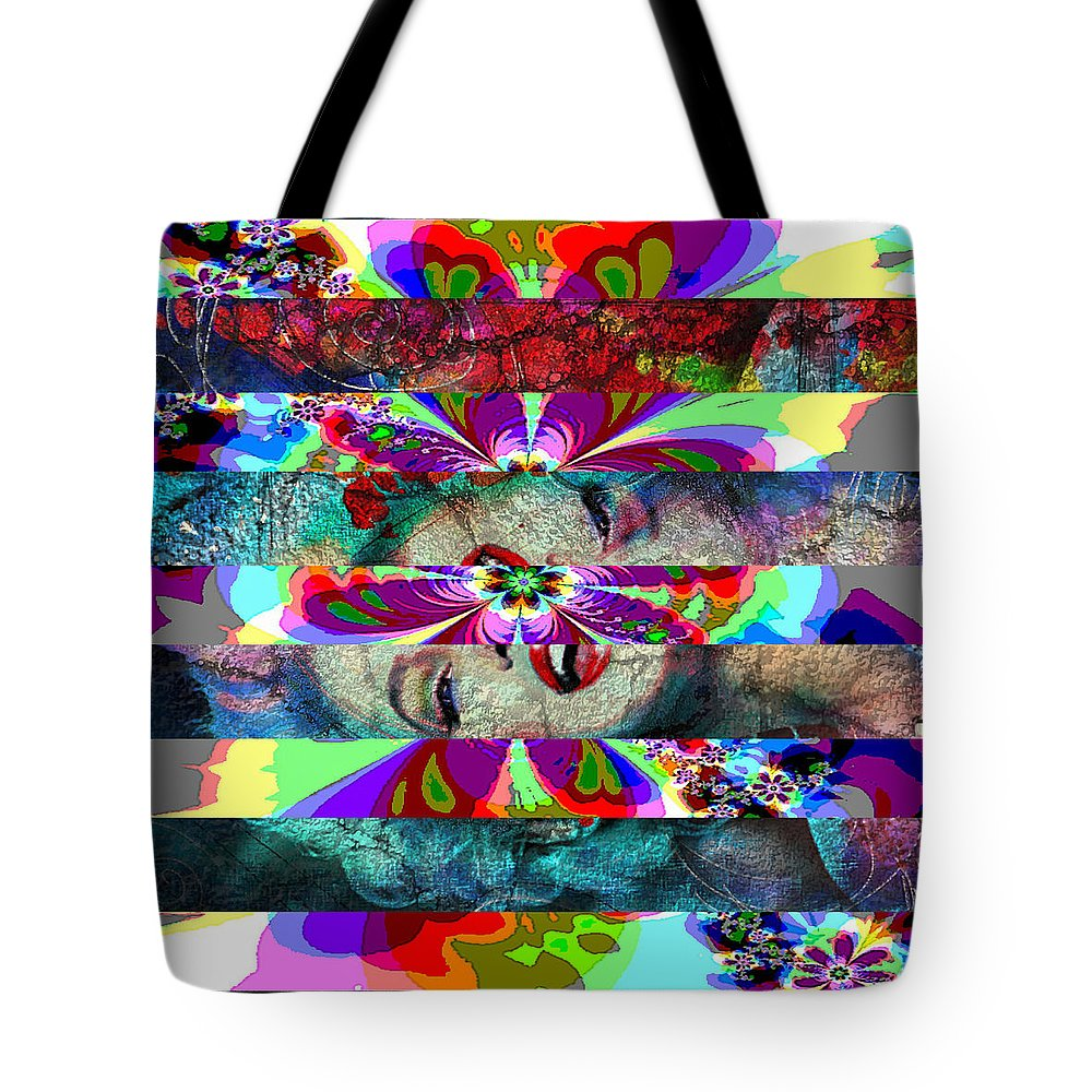 Theo Danella Tote Bag featuring the painting Mm Flower by Theo Danella