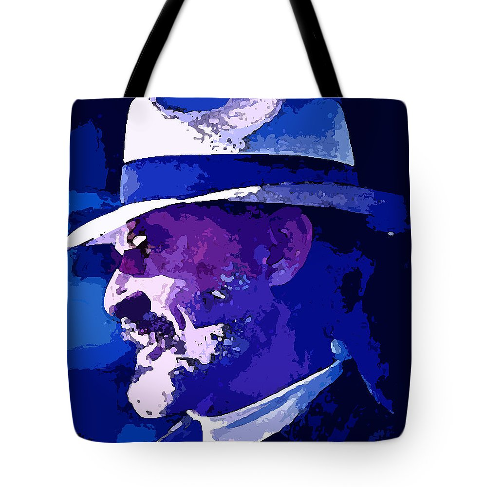 Mojo Tote Bag featuring the painting Mojo by George Pedro
