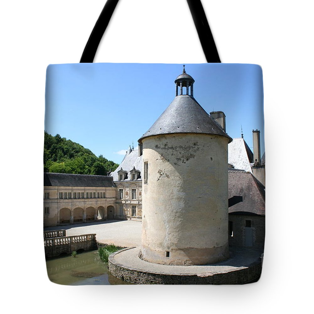 Moat Tote Bag featuring the photograph Moated Castle - Bussy Rabutin - Burgundy by Christiane Schulze Art And Photography
