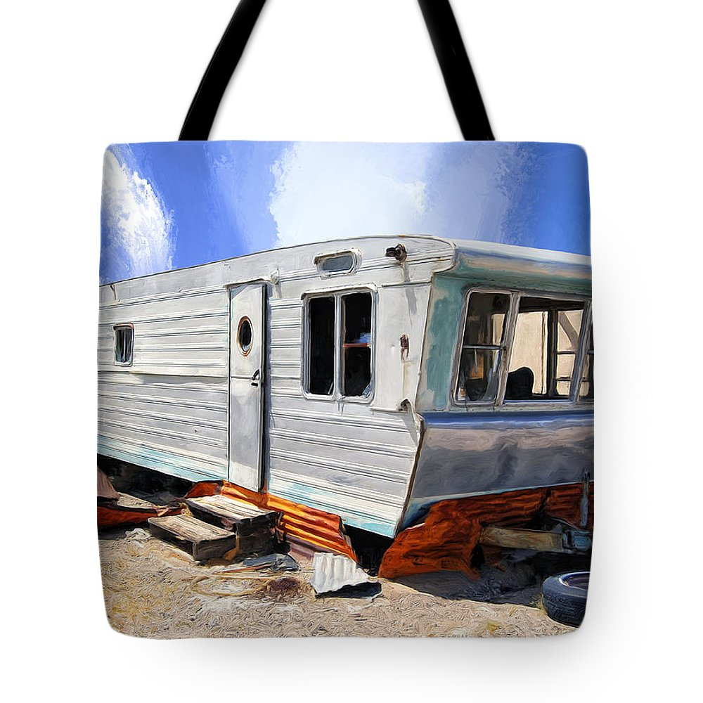 Abandoned Tote Bag featuring the painting Mobile Science Project by Dominic Piperata