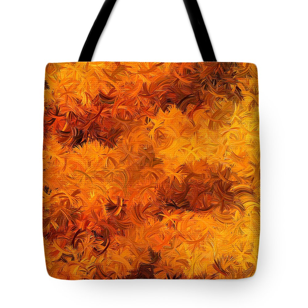 Yellow Tote Bag featuring the digital art Modern Abstract Xxviii by Lourry Legarde