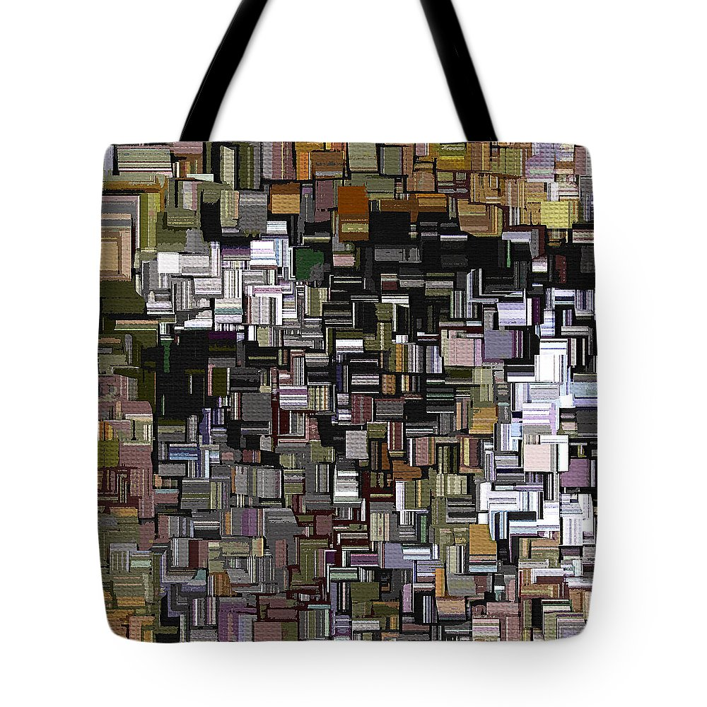 Abstract Tote Bag featuring the digital art Modern Abstract Xxxii by Lourry Legarde