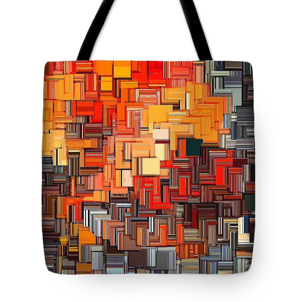 Squares Tote Bag featuring the digital art Modern Abstract Xxxiv by Lourry Legarde