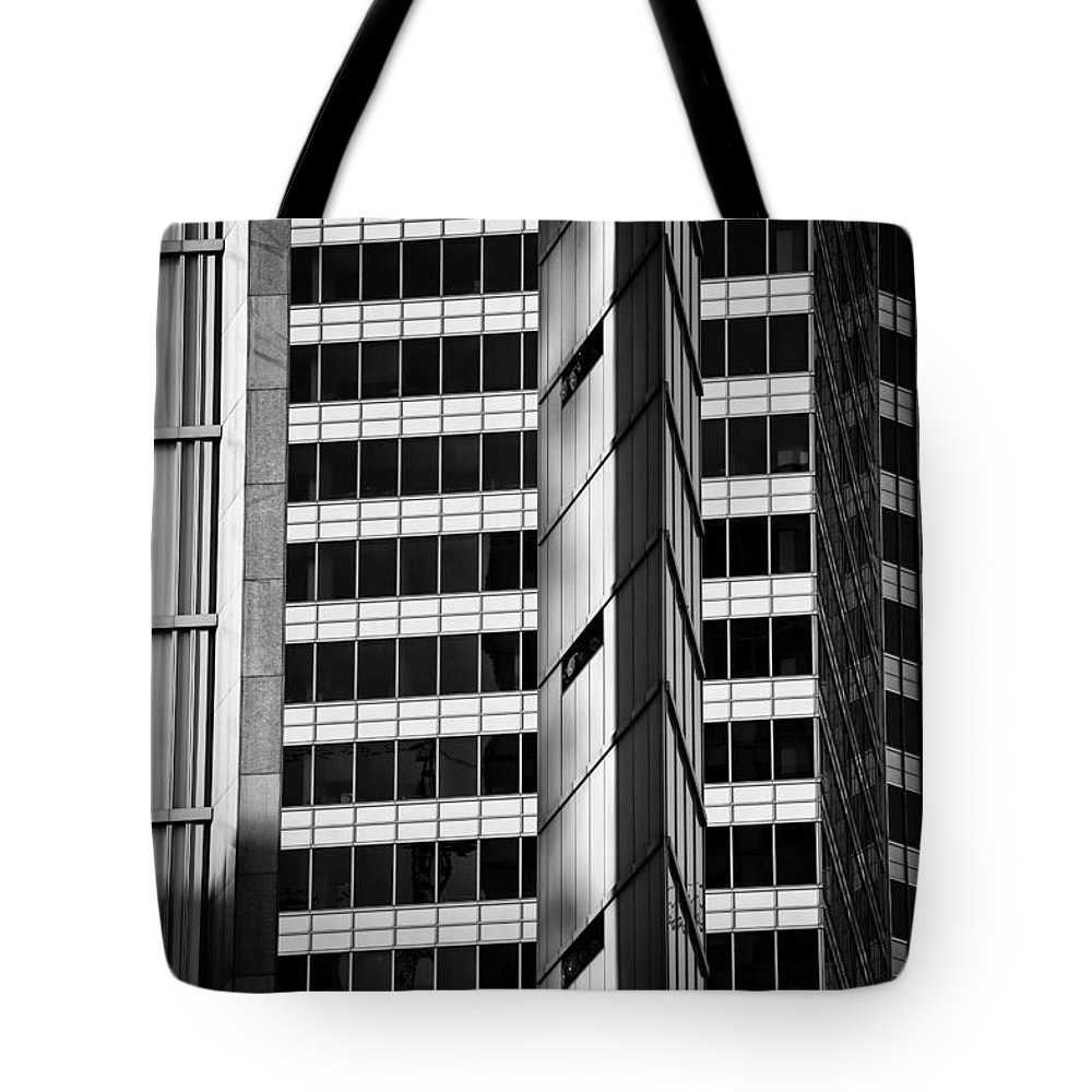 Abstract Tote Bag featuring the photograph Modern Buildings Abstract Architecture by Artur Bogacki