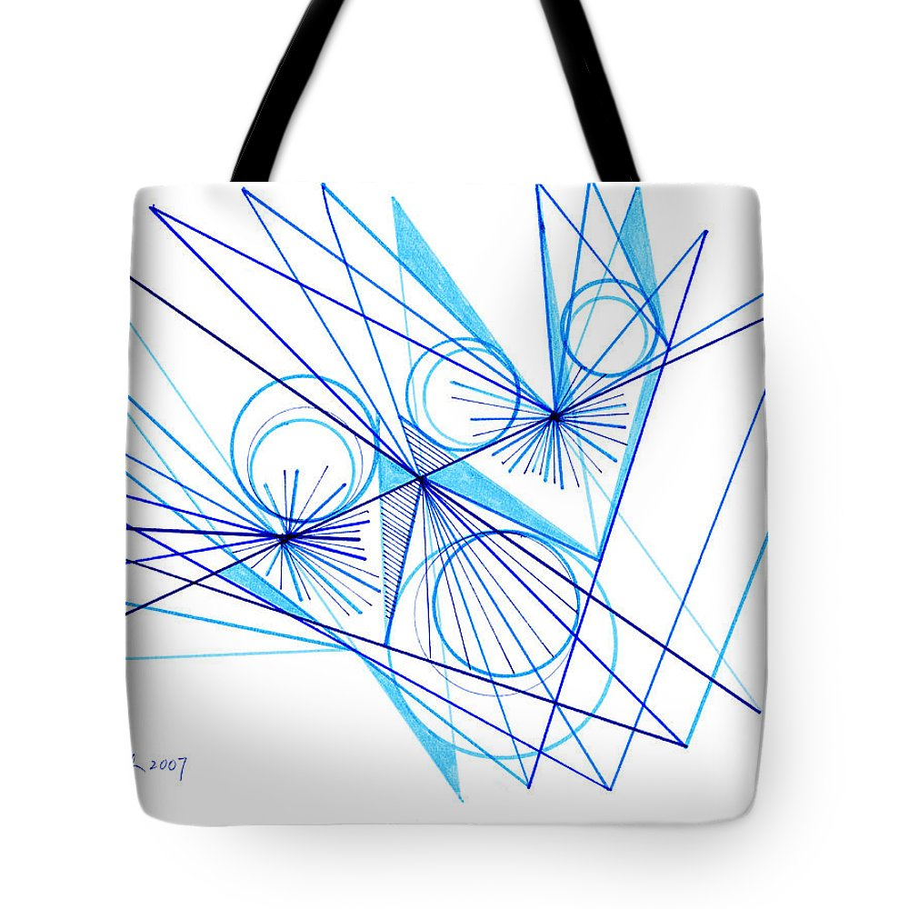 Modern Drawing Tote Bag featuring the drawing Modern Drawing Eighty-eight by Lynne Taetzsch