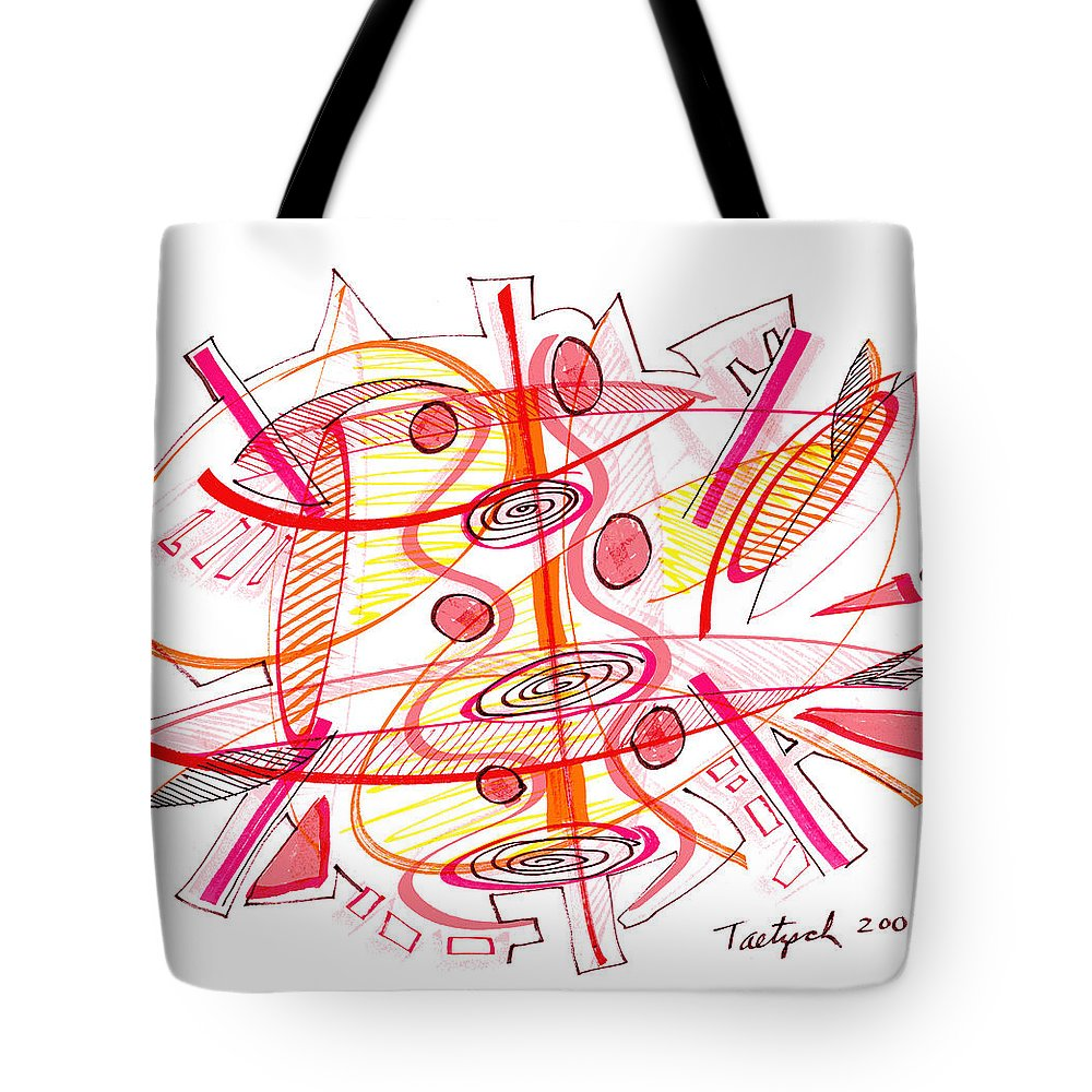 Modern Drawing Tote Bag featuring the drawing Modern Drawing Seventy-four by Lynne Taetzsch