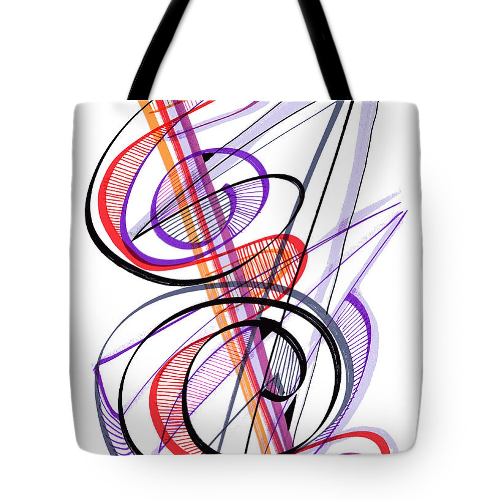 Modern Drawing Tote Bag featuring the drawing Modern Drawing Sixty-two by Lynne Taetzsch