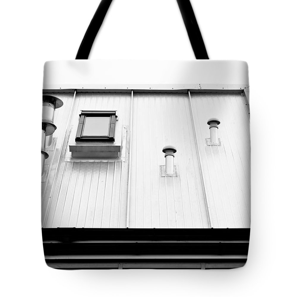 Aluminium Tote Bag featuring the photograph Modern Roof by Tom Gowanlock