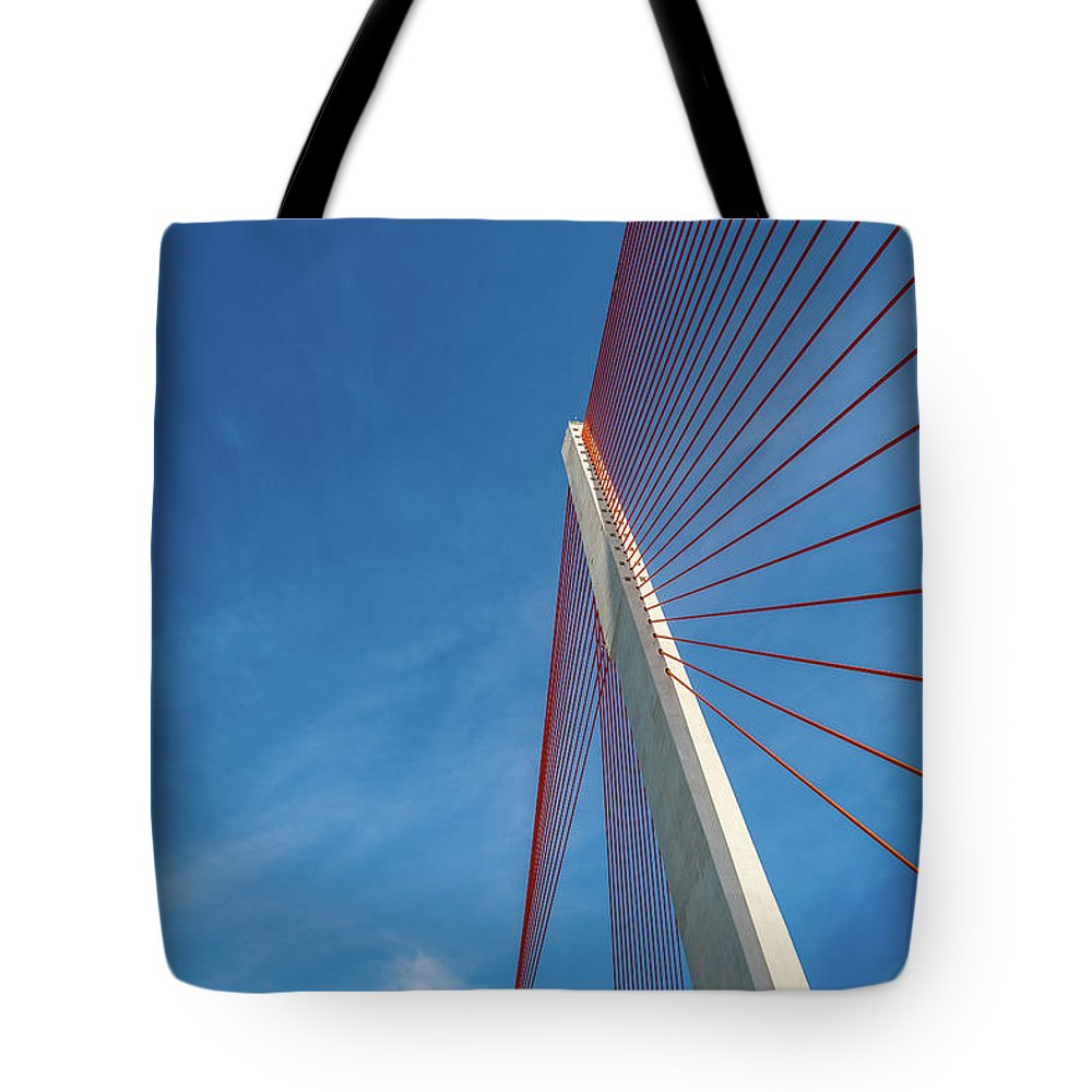 Hanging Tote Bag featuring the photograph Modern Suspension Bridge by Phung Huynh Vu Qui