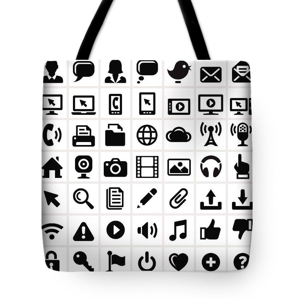 Internet Tote Bag featuring the digital art Modern Technology Internet Social by Bubaone