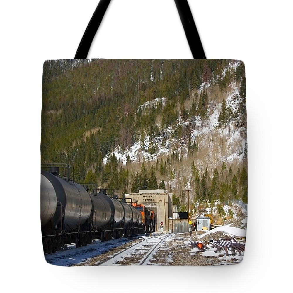 Moffat Tunnel Tote Bag featuring the photograph Moffat Tunnel East Portal At The Continental Divide In Colorado by Steve Krull