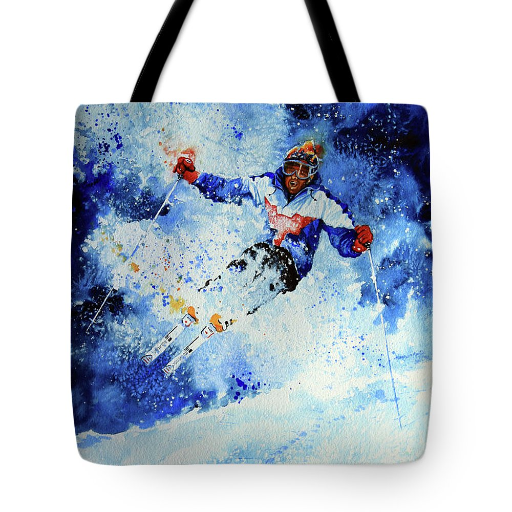 Artist Tote Bag featuring the painting Mogul Mania by Hanne Lore Koehler