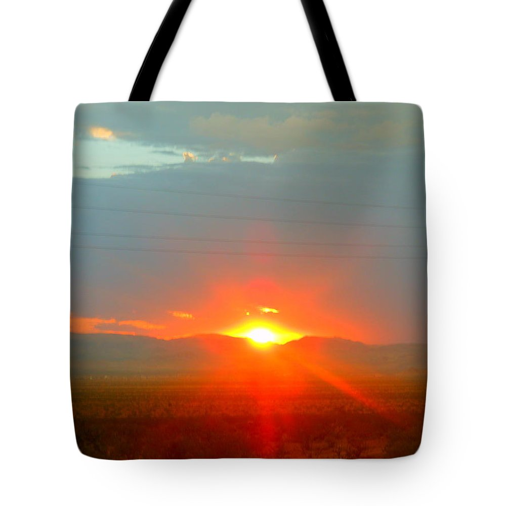 Landscape Tote Bag featuring the photograph Mohave Sunset In Golden Valley by James Welch
