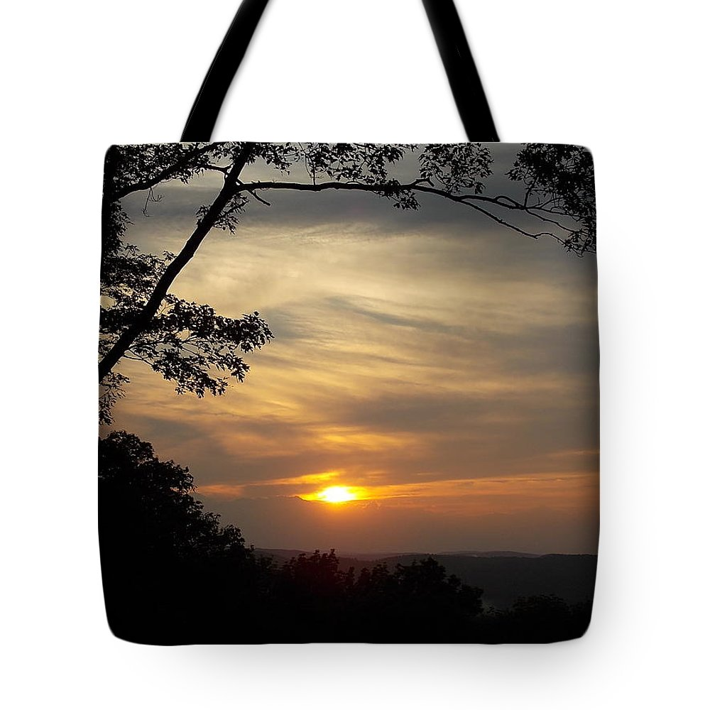 Mohawk Tote Bag featuring the photograph Mohawk Sunset by Nina Kindred