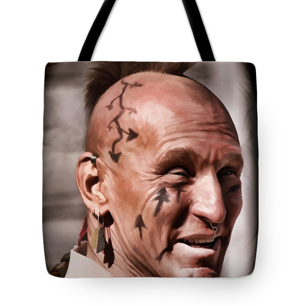 Mohican Tote Bag featuring the digital art Mohican by Pennie McCracken