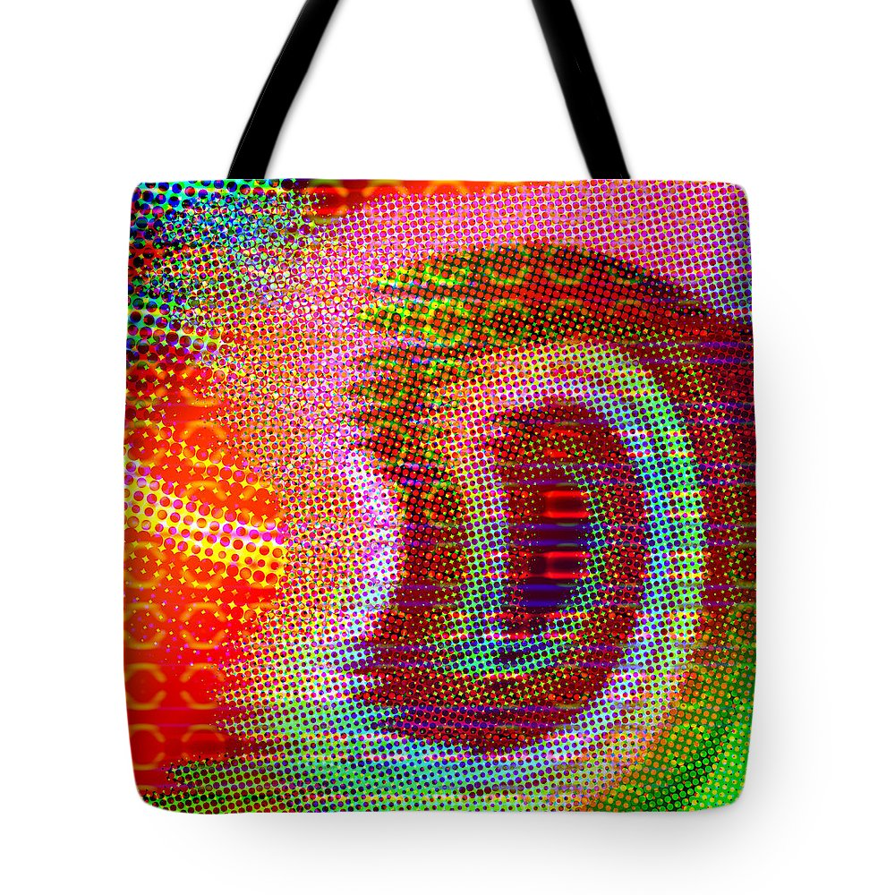Abstract Tote Bag featuring the digital art Moire No 4 by James Kramer