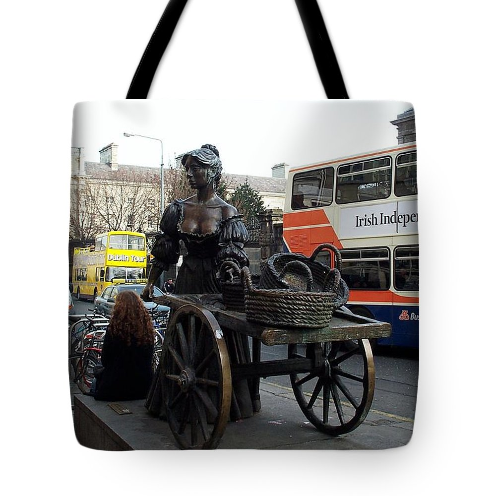 Molly Malone Tote Bag featuring the photograph Molly Malone by Barbara McDevitt