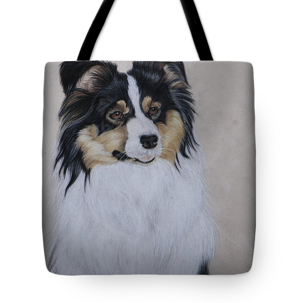 Dog Tote Bag featuring the painting Molly by Sandy Brooks