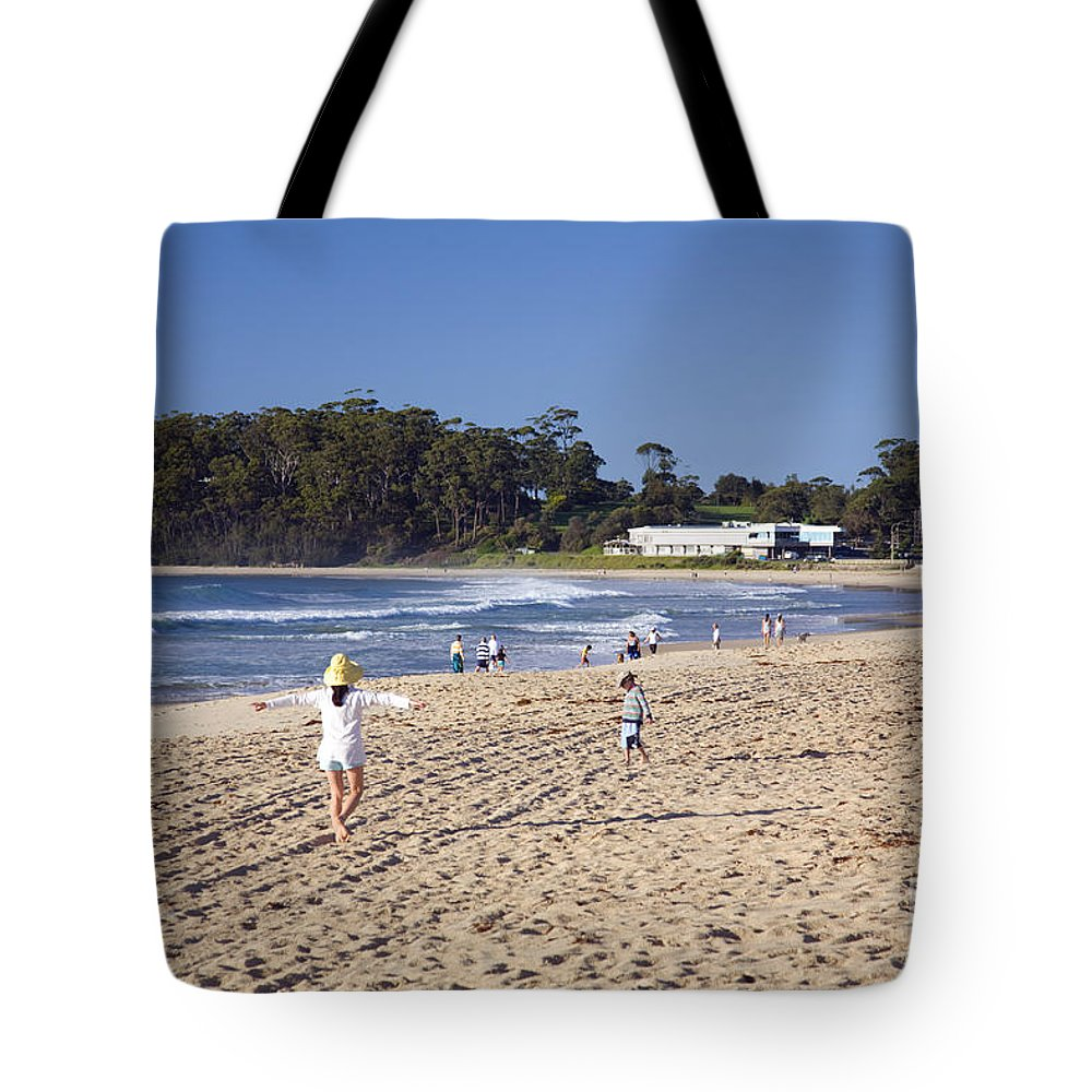 Mollymook Tote Bag featuring the photograph Mollymook Beach On The South Coast Of New South Wales Australia by Martin Berry