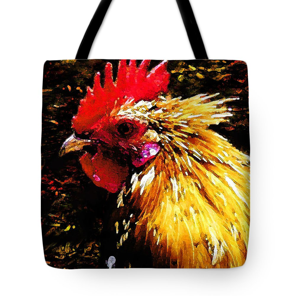 Hawaii Iphone Cases Tote Bag featuring the photograph Cock Fighter by James Temple