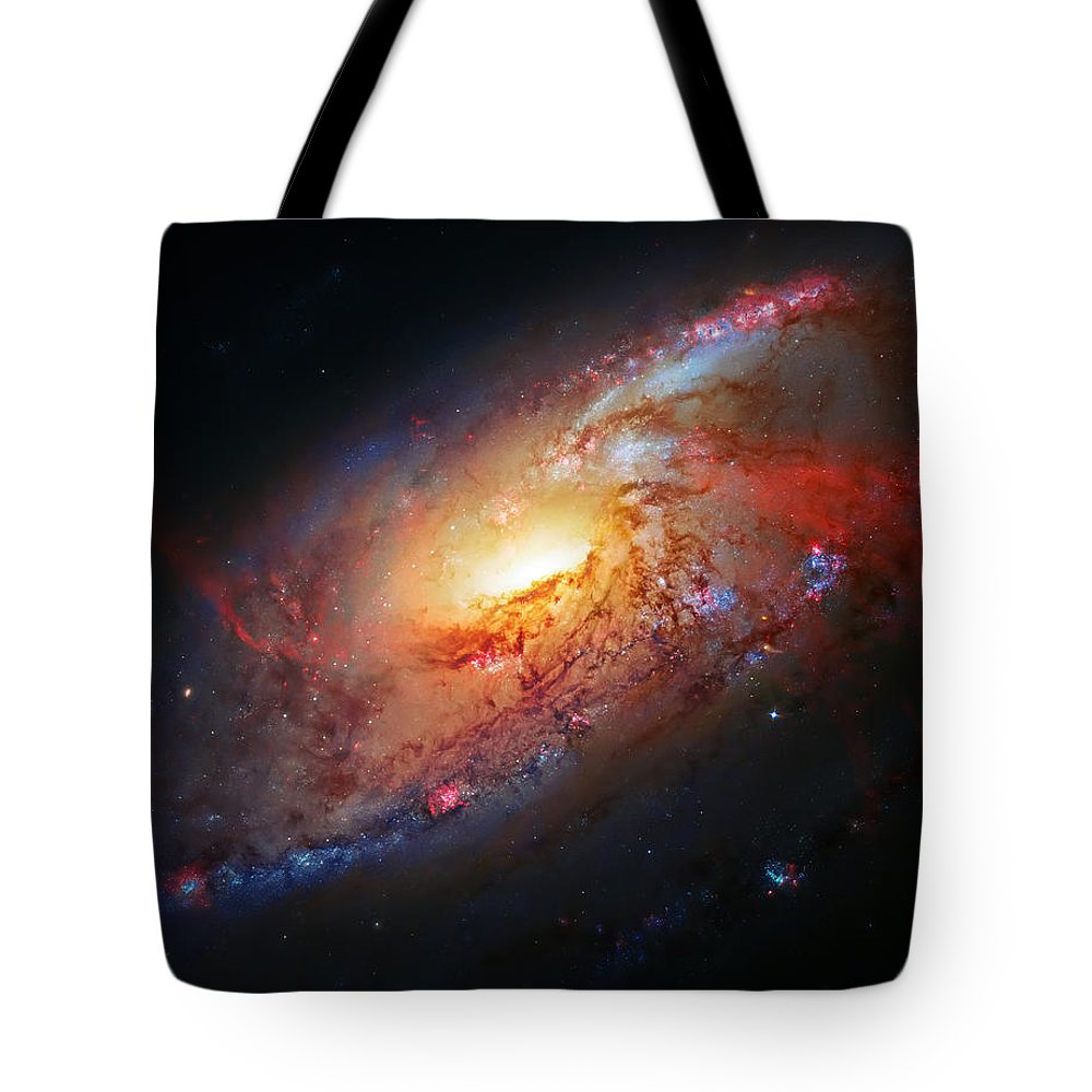 Universe Tote Bag featuring the photograph Molten Galaxy by Jennifer Rondinelli Reilly - Fine Art Photography