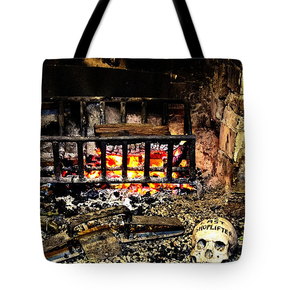 Hahndorf Tote Bag featuring the photograph Mom What Happens With Shoplifters by Douglas Barnard