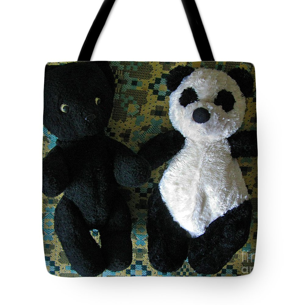 Toy Tote Bag featuring the photograph Momma Told Us We Are Brothers by Ausra Huntington nee Paulauskaite