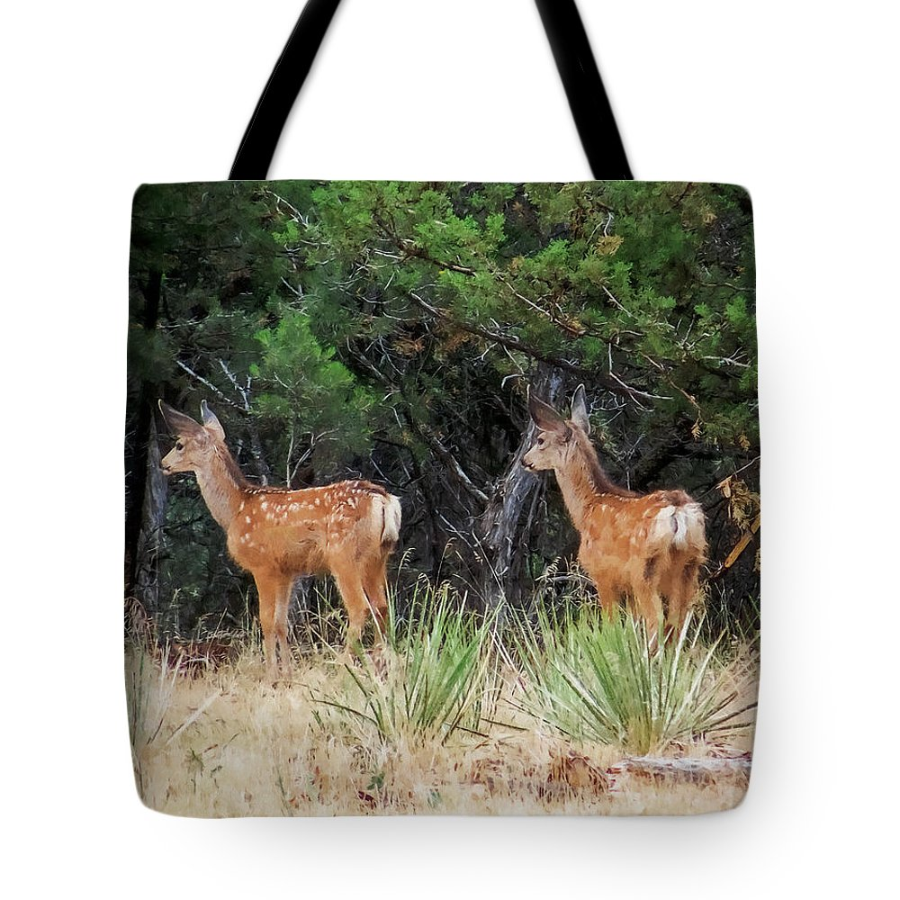 Deer Tote Bag featuring the digital art Mommy Where Are You by Ernie Echols