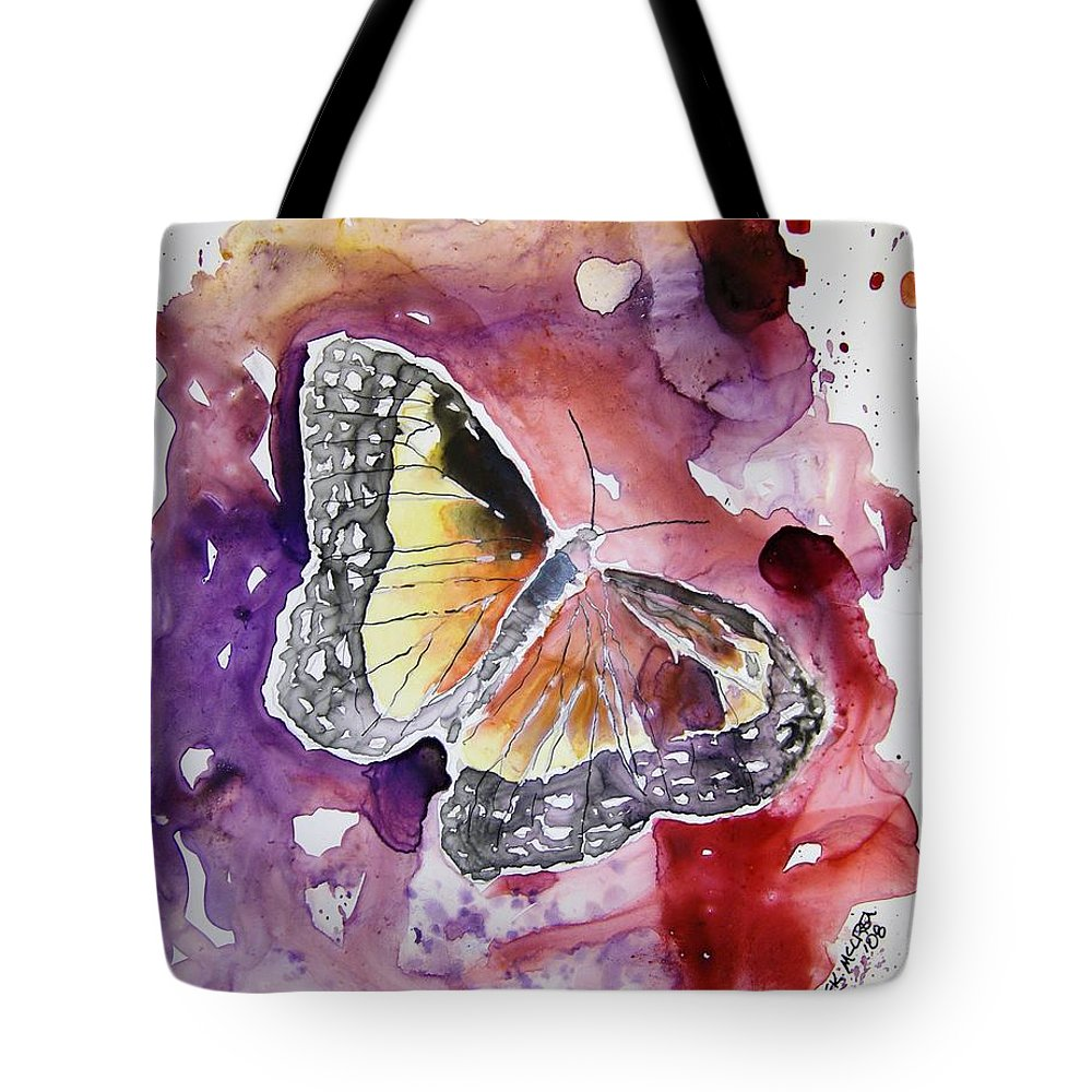 Monarch Tote Bag featuring the painting Monarch Butterfly by Derek Mccrea