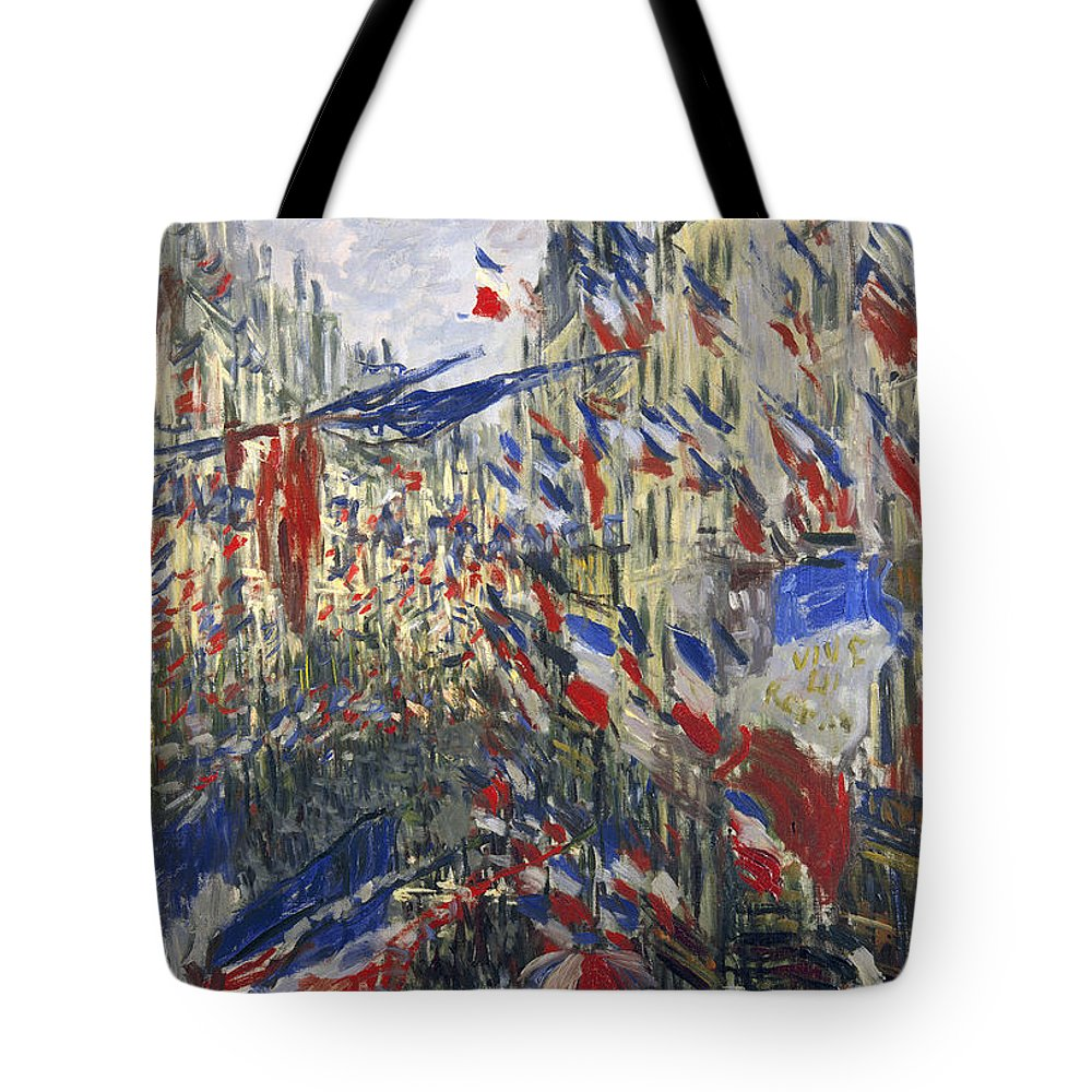 1878 Tote Bag featuring the photograph Monet: Montorgeuil, 1878 by Granger