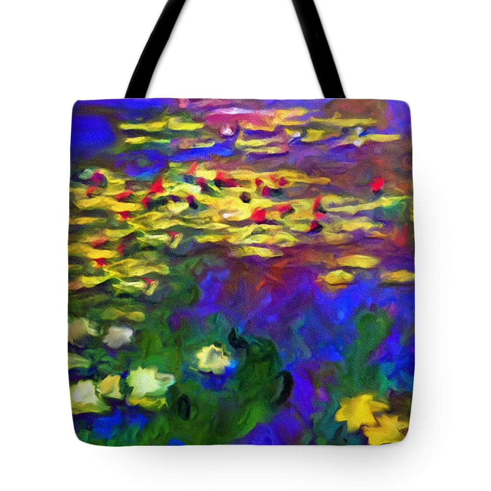 Abstract Tote Bag featuring the mixed media Monet Would Be Horrified by Georgiana Romanovna