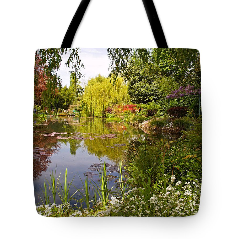 Landscape Tote Bag featuring the photograph Monet's Water Garden 2 At Giverny by Alex Cassels