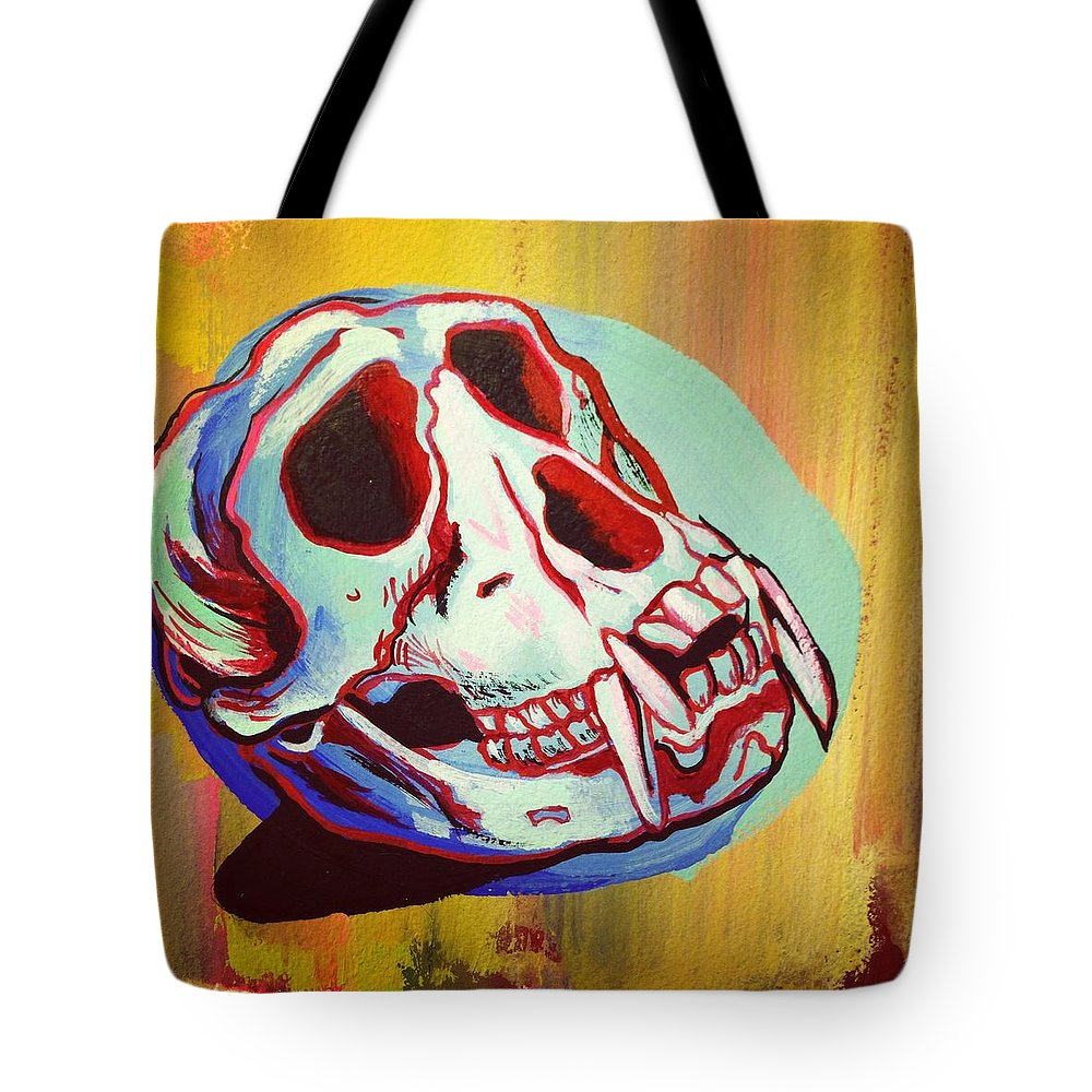 Monkey Tote Bag featuring the painting Monkey Skull by Britt Kuechenmeister