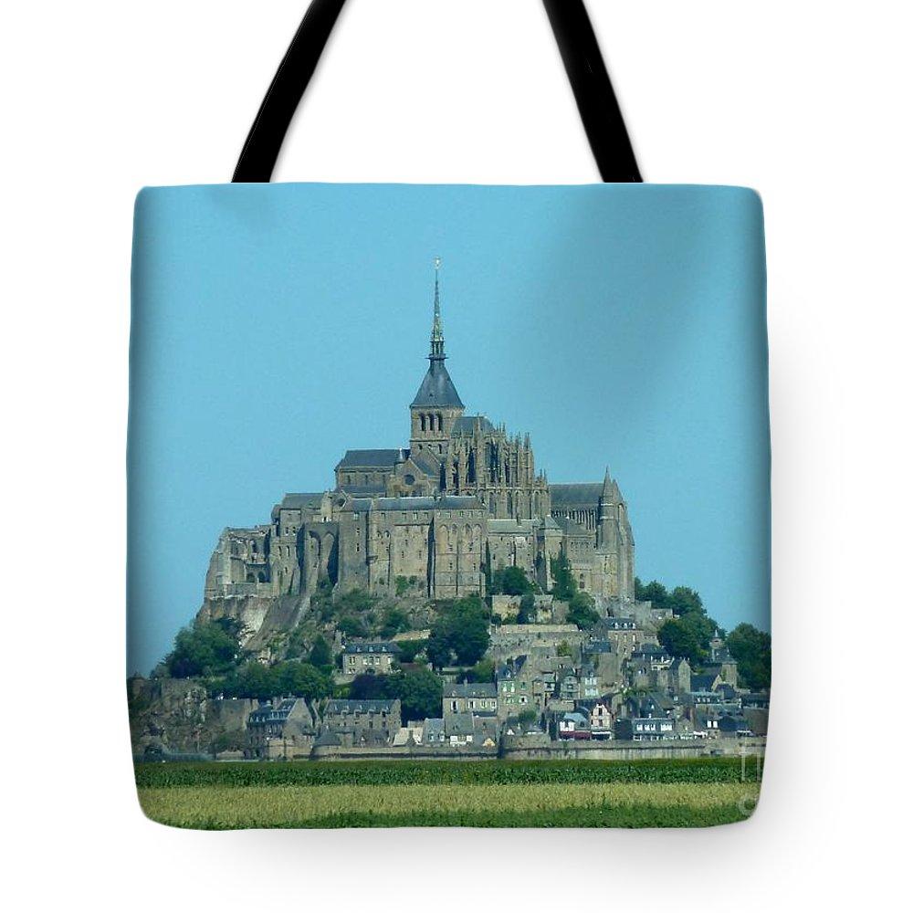 Mont Saint-michel Tote Bag featuring the photograph Mont Saint-michel by Christine Huwer