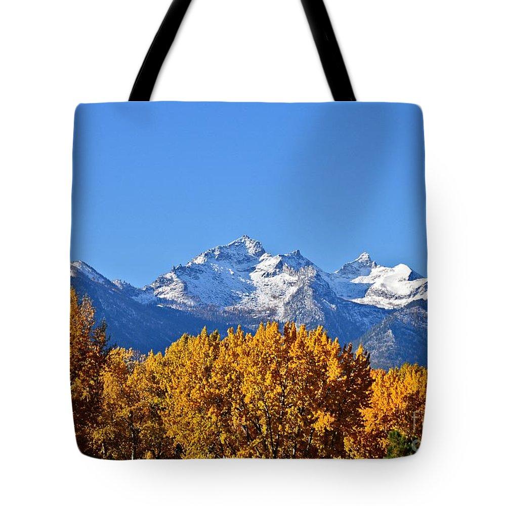 Montana Photography Tote Bag featuring the photograph Montana Fall by Joseph J Stevens
