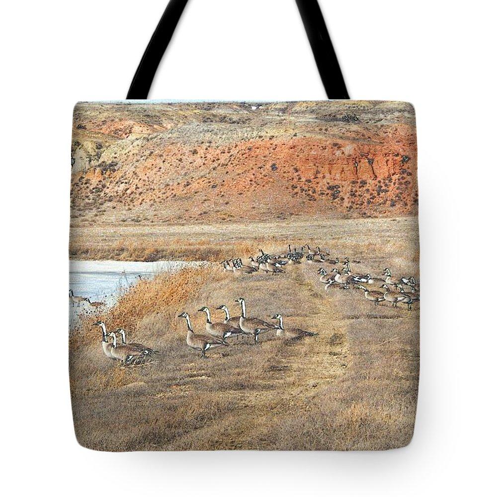 Montana Tote Bag featuring the digital art Montana Spring Thaw by Aliceann Carlton