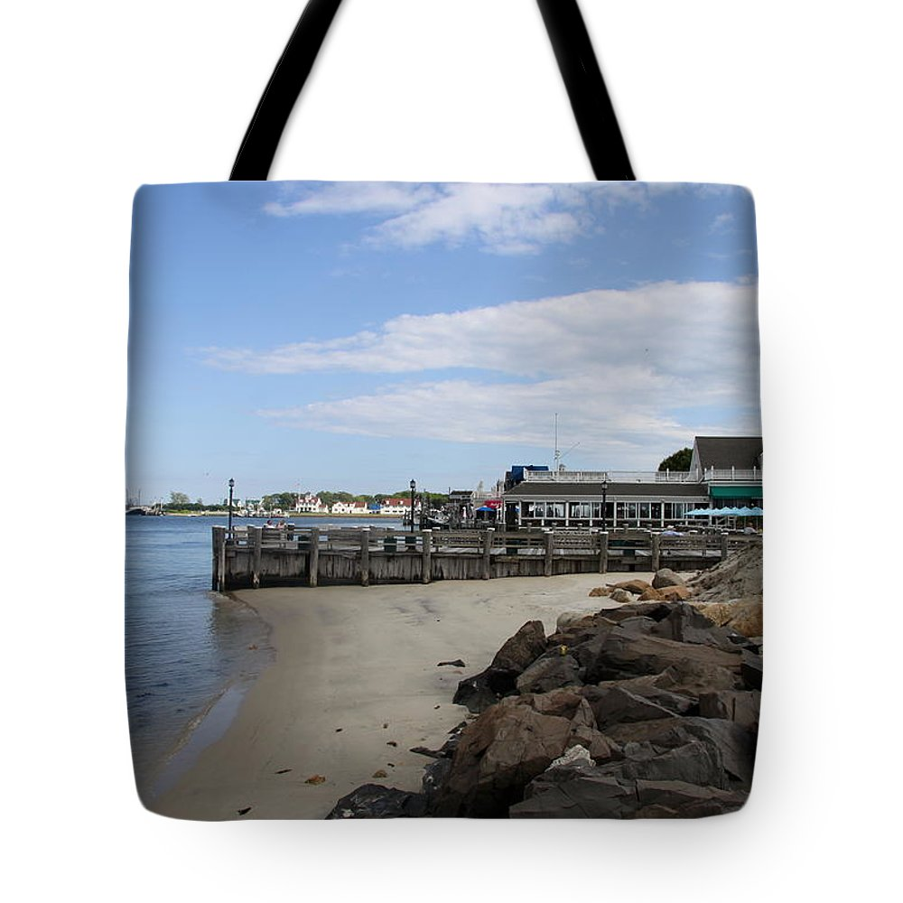 Montauk Port Tote Bag featuring the photograph Montauk Port Long Island by Christiane Schulze Art And Photography