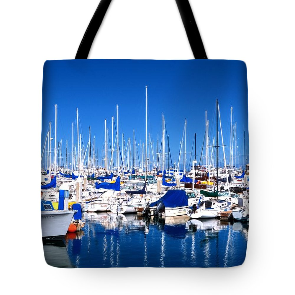Monterey Tote Bag featuring the photograph Monterey Bay Yacht Club 19704 by Jerry Sodorff