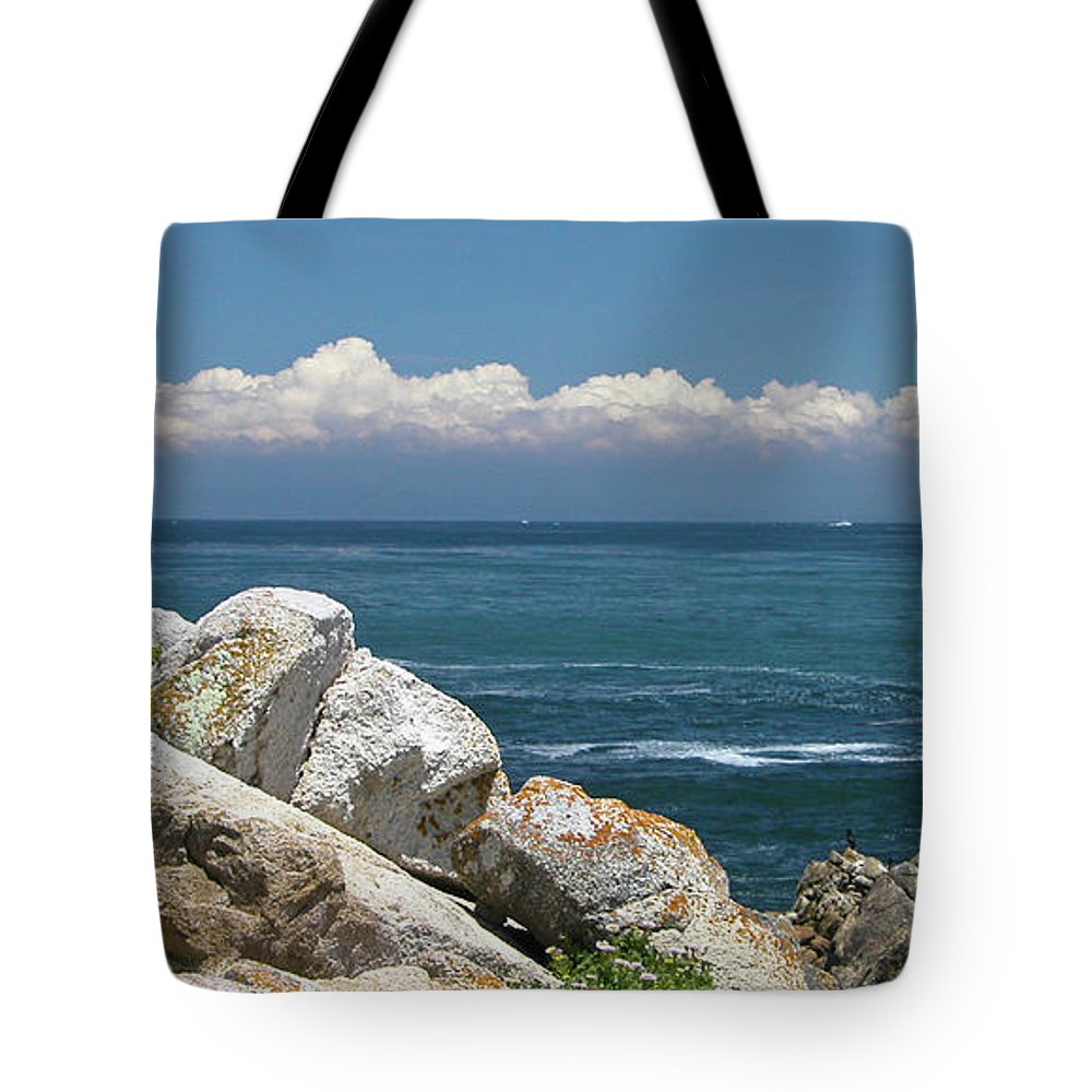 Landscape Tote Bag featuring the photograph Monterey Beach by Guy Whiteley