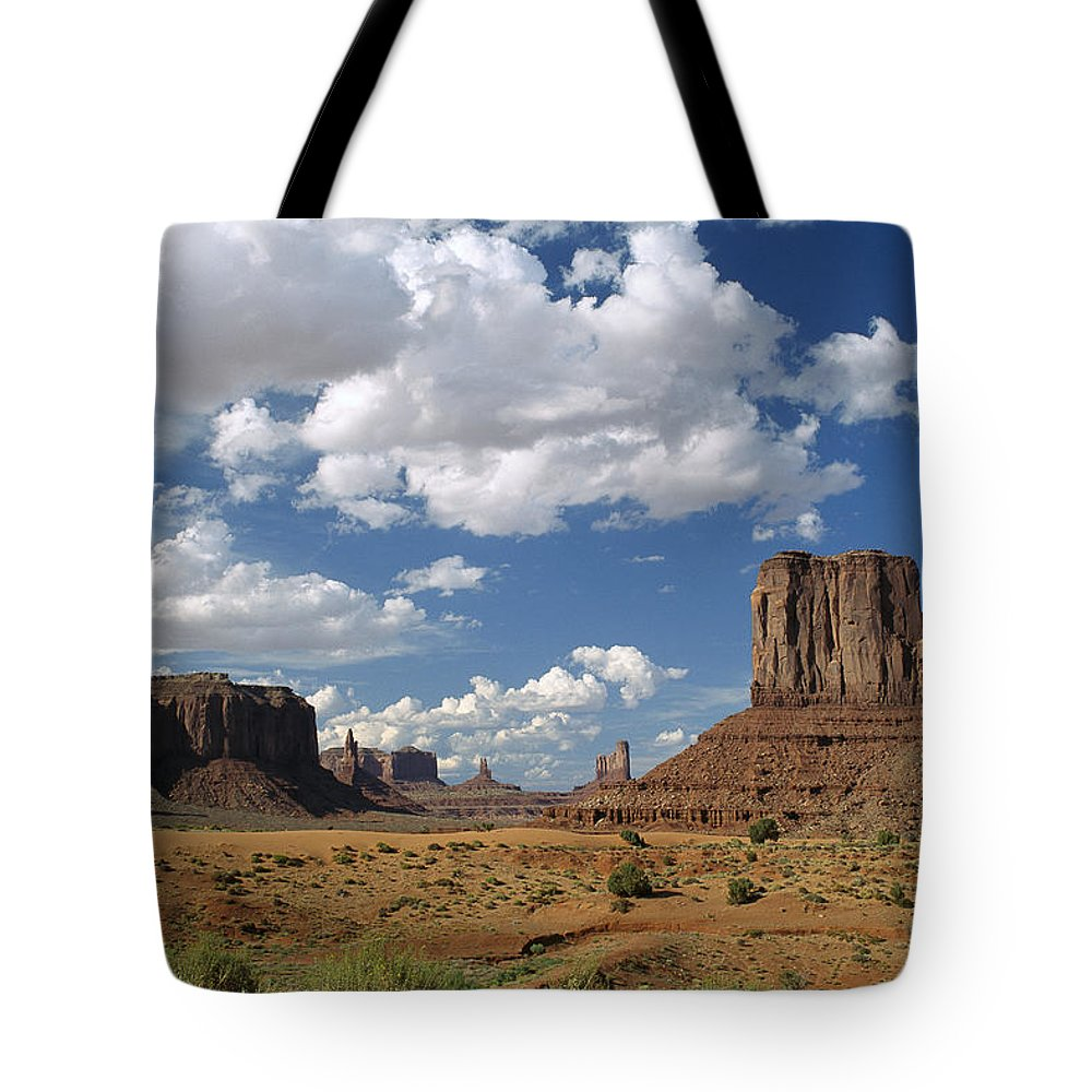 Arizona Tote Bag featuring the photograph Monument Valley Navajo Tribal Park by Tim Fitzharris