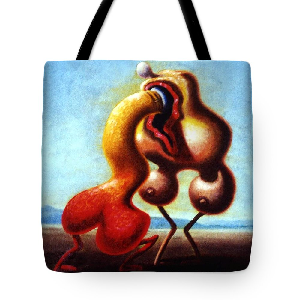 Genio Tote Bag featuring the painting Monumental Passion by Genio GgXpress