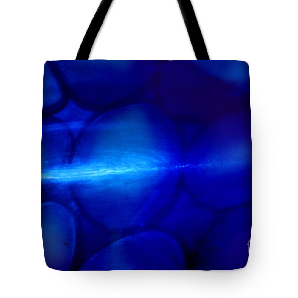 Blue Tote Bag featuring the photograph Moody Blues by Karen Adams