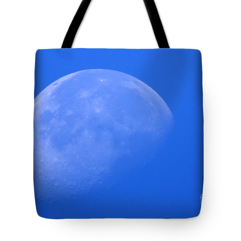 Moon Tote Bag featuring the photograph Moon Craters by Mary Mikawoz