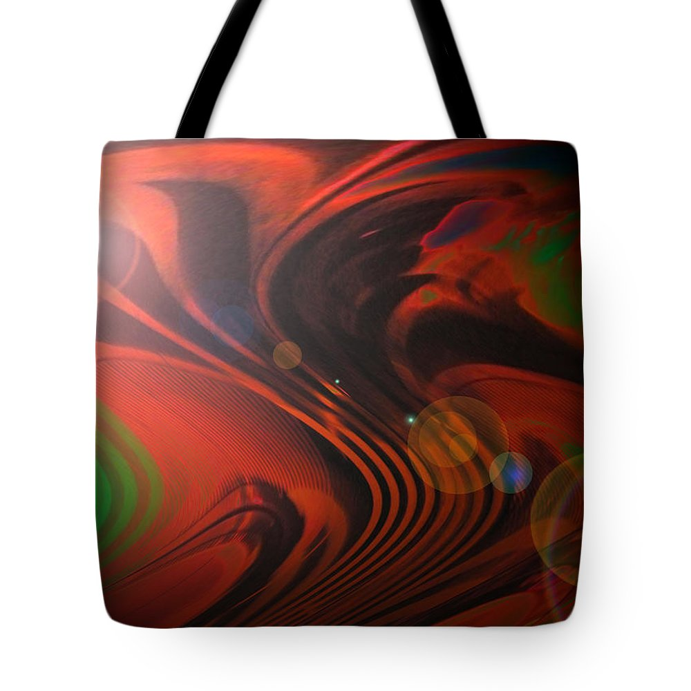 Black Tote Bag featuring the painting Moon Glow by Alli Cullimore