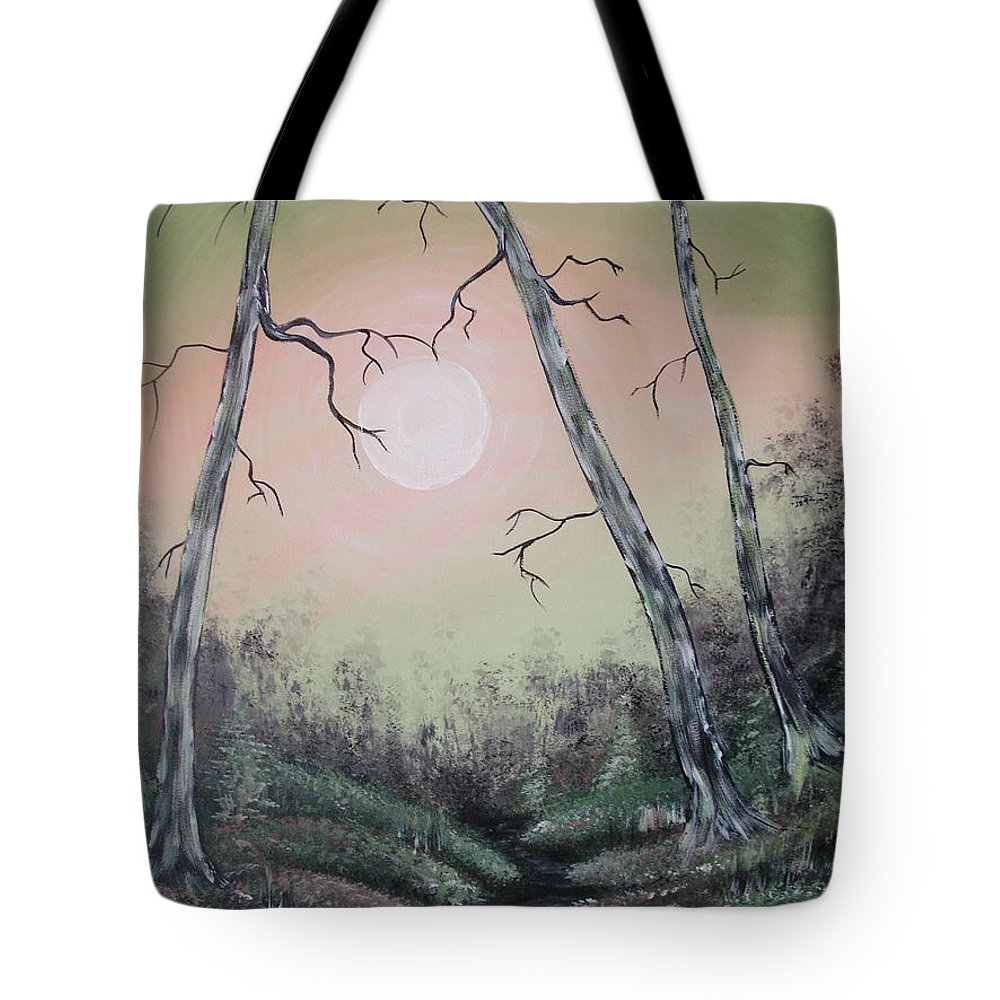 Moon Tote Bag featuring the painting Moon Magic by Krystyna Spink